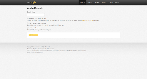 DNSimple Add Domain