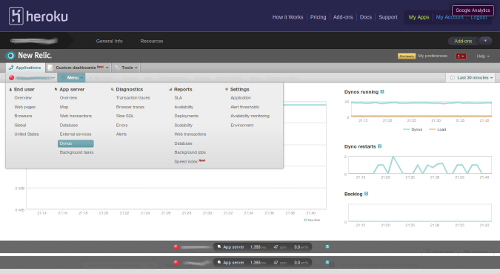 New Relic Pages Screenshot