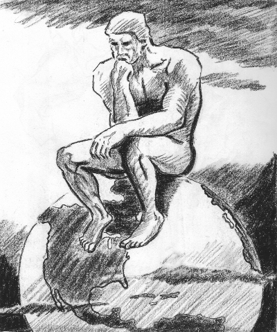 The Thinker Sketch