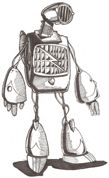 Retro Robot Sketch