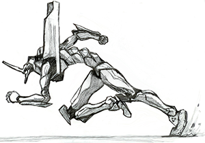 Robot Sprint Sketch