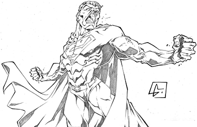 Superman Angry Sketch