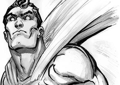 Superman Stare Sketch
